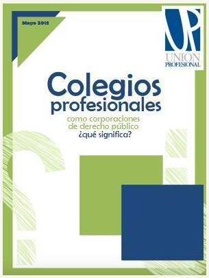 """Guía de los """"Colegios Profesionales como corporaciones de derecho público"""""""