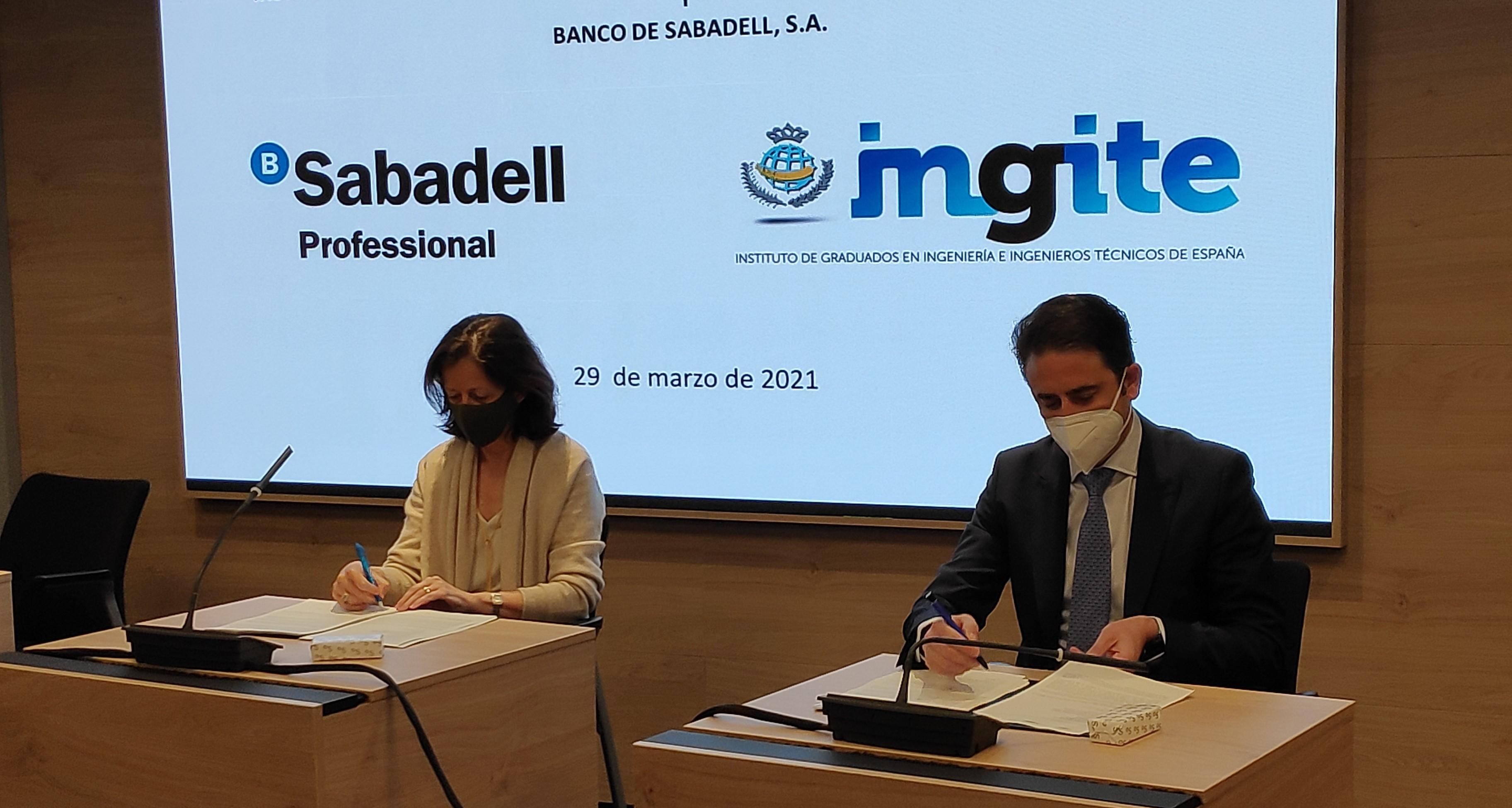 Convenio entre INGITE y el Banco Sabadell