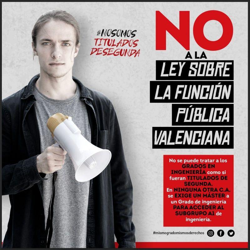 El INGITE pide tu firma para decir NO a la Ley de Función pública valenciana